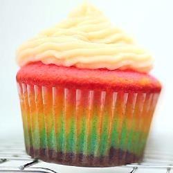 Foto della ricetta: Cupcake arcobaleno
