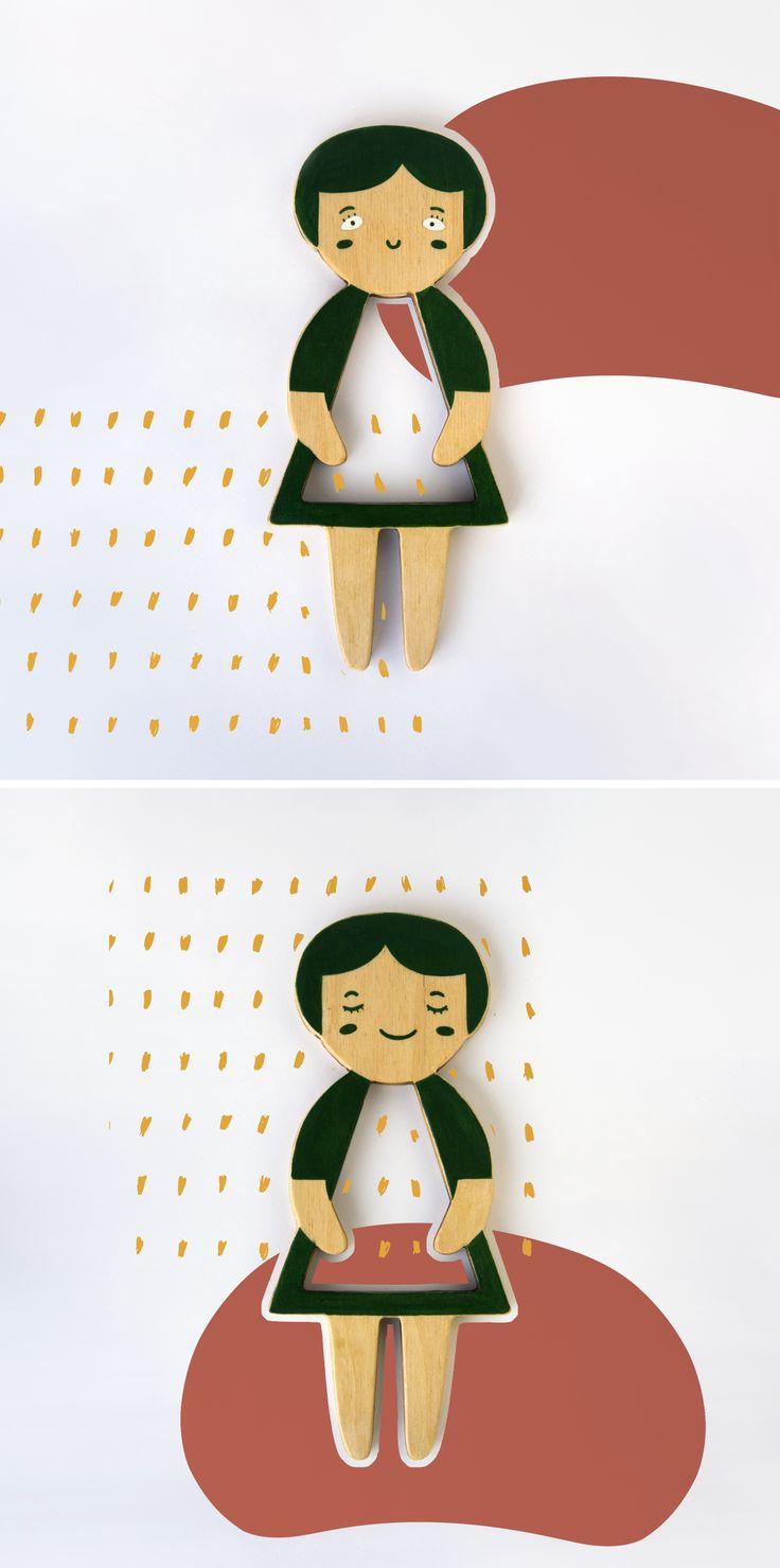 Mila. Telepapu wooden doll