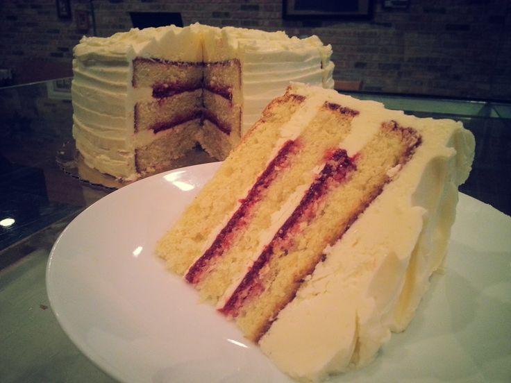Lemon Raspberry Cake Italian Ercream Homemade Filling