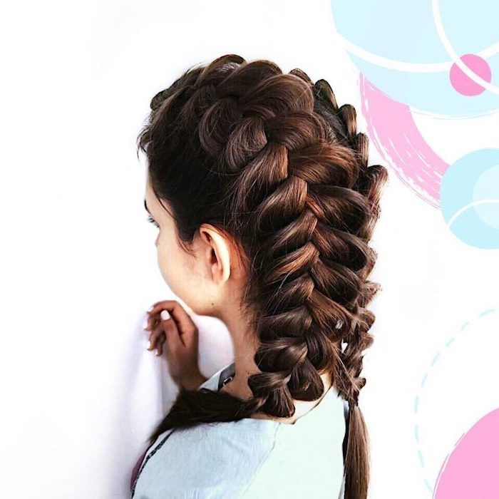 White Background Braid Hairstyles For Long Hair Brown Hair Two Braids In 2020 Braided Hairstyles Braids For Long Hair French Braid Short Hair