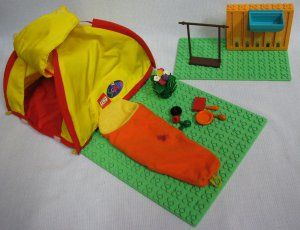 Lego Scala Camping Lot with Tent Sleeping Bag