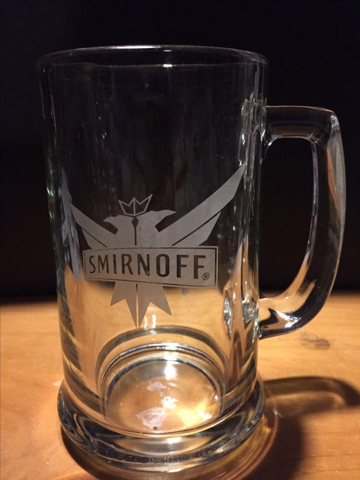 Smirnoff glass with handle