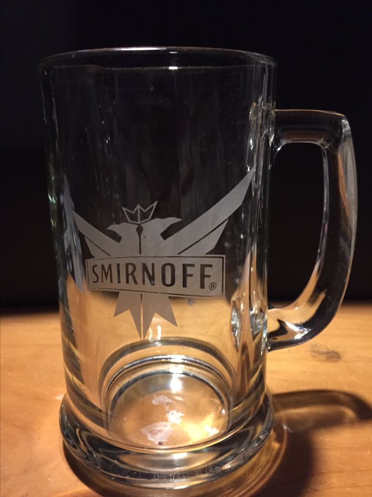 Smirnoff glass with handle