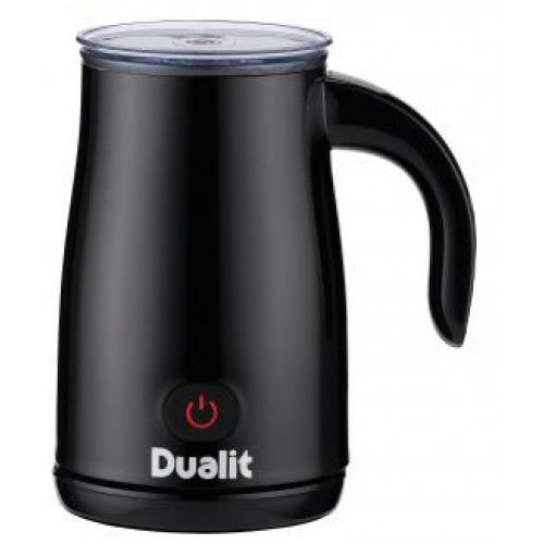 Dualit 84145 Milk Frother in Black Dualit 84145 Milk Frother in Black The completely re-engineered cordless Dualit milk frother produces hot milk, hot frothed milk or cold frothed milk in just two minutes, perfect for making a latte, c http://www.MightGet.com/february-2017-2/dualit-84145-milk-frother-in-black.asp
