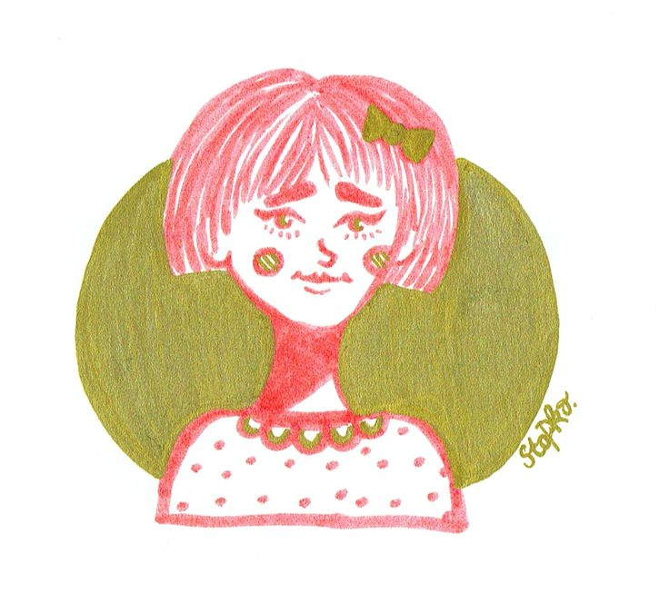 IG: @maggie_creates_  marker drawing pink and gold