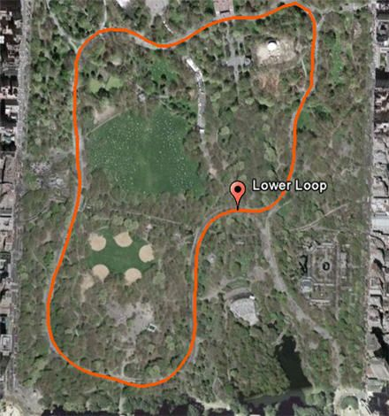 Running Map – Central Park : RunYourCity