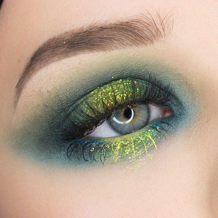 Green Glittery Eyeshadow