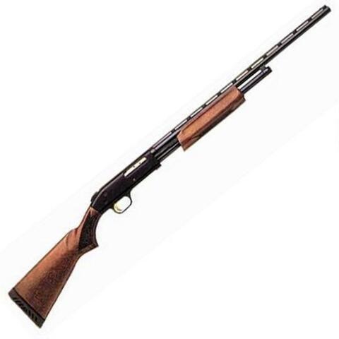 "Mossberg 500 All Purpose Field Pump Action Shotgun .410 Bore 24"" Barrel 6 Rounds 3"" Chamber Full Choke Wood Stock Blued 50104 - 015813501040"