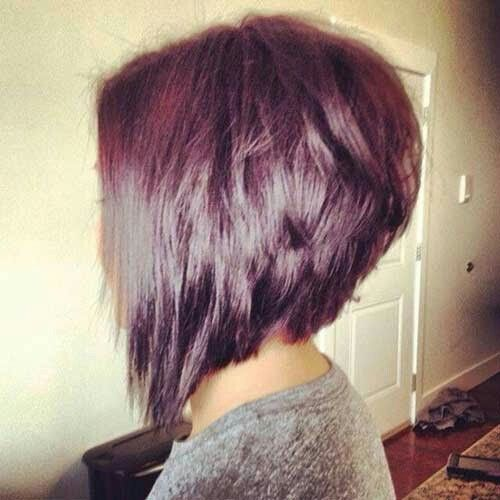 Inverted bob red violet