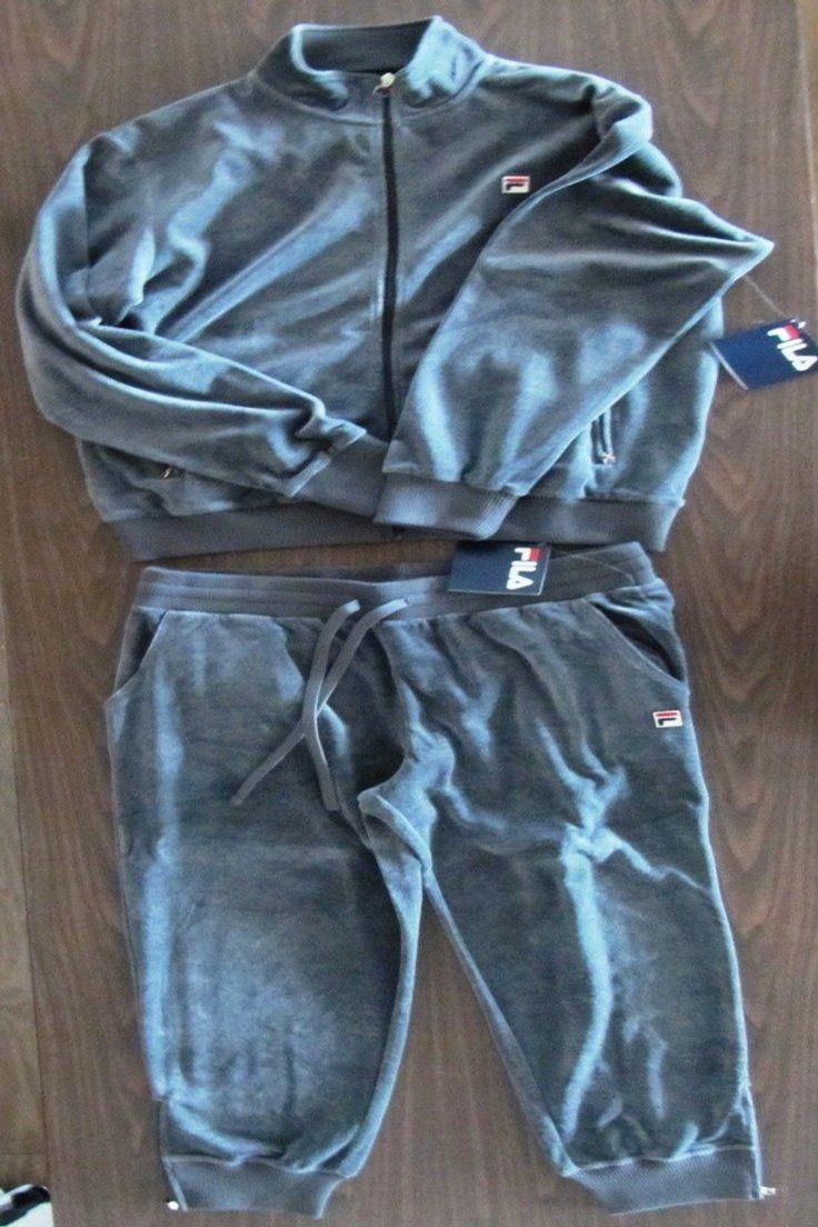 7cbb59c4c61 159.99 | Fila Men's Velour suit Jacket Pants Set Charcoal XL 2XL ❤ #fila # mens #velour #suit #jacket #pants #charcoal #pet #snack #selenagomez  #tflers ...