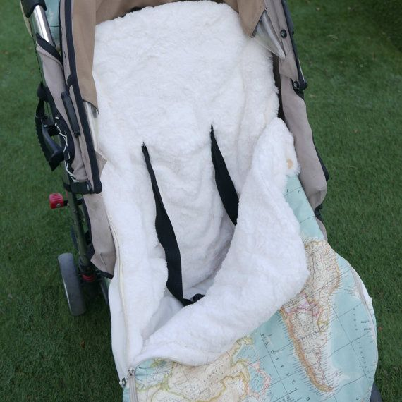 Universal footmuff Pattern: Bunting bag stroller by coloursforbaby
