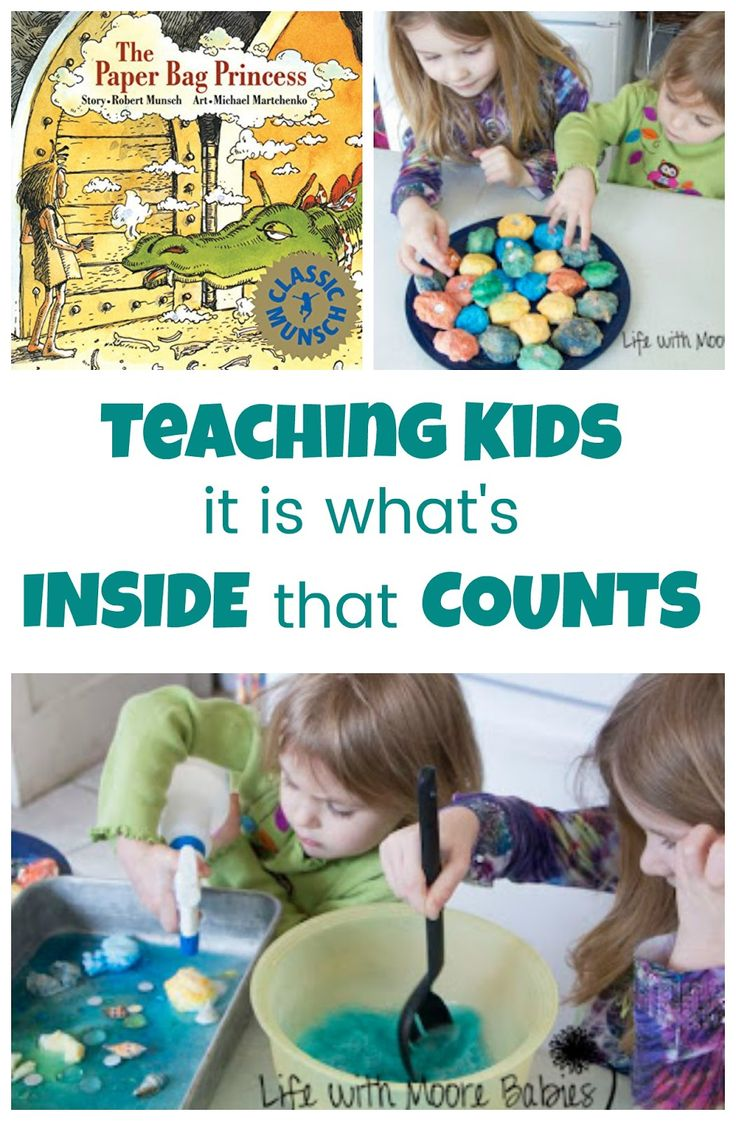 Hands-on Activity to teach kids it is what is on the inside that counts! This learning activity accompanies the book The Paper Bag Princess.