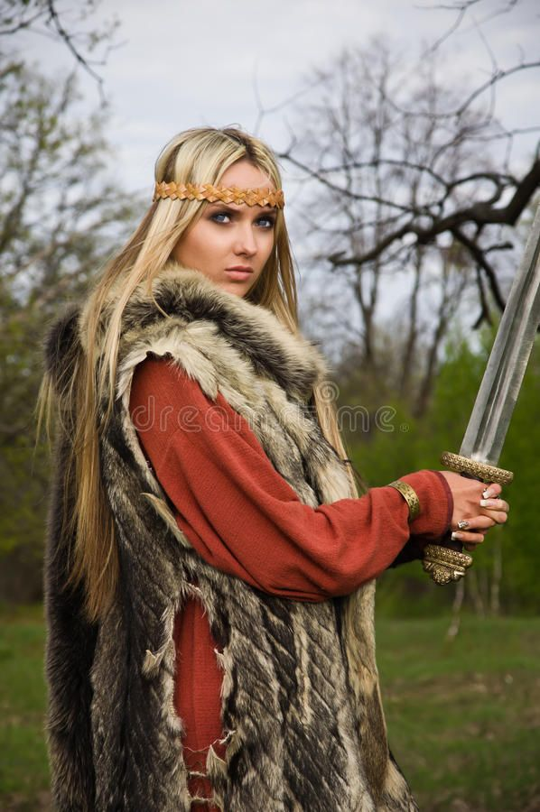 Viking Girl Warrior Portrait Of The Blonde Girl In The Scandinavian Suit With S Sponsored Warrior Portrait Vi Warrior Girl Blonde Girl Warrior Images