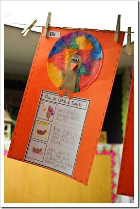 Thanksgiving sequencing first then last catch a turkey for Turkey crafts for first grade