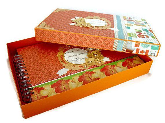 Album de mariage personnalisé, Album Scrapbook dans un coffret, Album Photo de mariage, mariage Memory Book, Album de scrapbooking mariage, cadeau de mariage