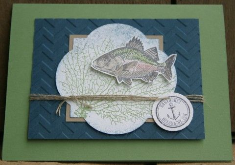Stampin Up By The Tide Card Greeting Cards Handmade