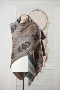 Jackson Rowe JRC Wanderlust blanket scarf in the Arizona colour.  $84.  One size.