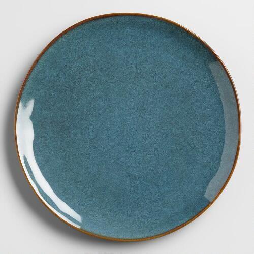 One of my favorite discoveries at WorldMarket.com: Indigo Organic Reactive Glaze Salad Plates, Set of 2