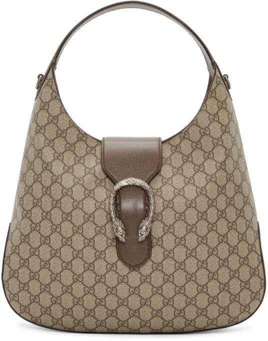 9f6adf32412 Gucci Beige GG Supreme Dionysus Hobo Bag