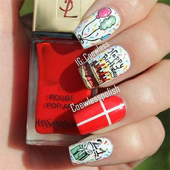 16 best happy birthday images on pinterest birthday ideas i am unfolding easy birthday nail designs and ideas of make cakes cupcakes buntings balloons and glittery images on your nails on your birthday and urmus Images
