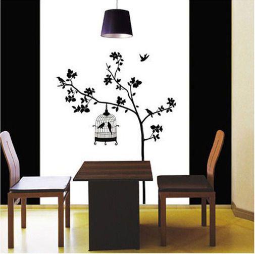 Hágalo usted mismo Pared Vinilo Deco pegatina pájaro y árbol de papel de pared arte calcomanía in Casa y jardín, Decoración para el hogar, Calcomanías, autoadhesivos e img. art.   eBay