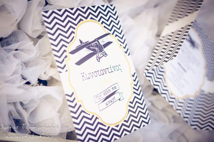 #Aeroplane #invitation #Baptism In #Rhodes #WeddingPlanner #Greece #GoldenAppleWeddings