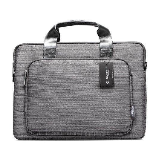 STONG ShockProof Neoprene Businesstasche (11,6, 13.3, 15.4Zoll) Laptophülle Notebooktasche Schultertaschen Schutzhülle Hülle Sleeve Tasche für Apple Macbook Air, Macbook Pro, Surface Pro, iPad (13.3 Zoll, Grau)