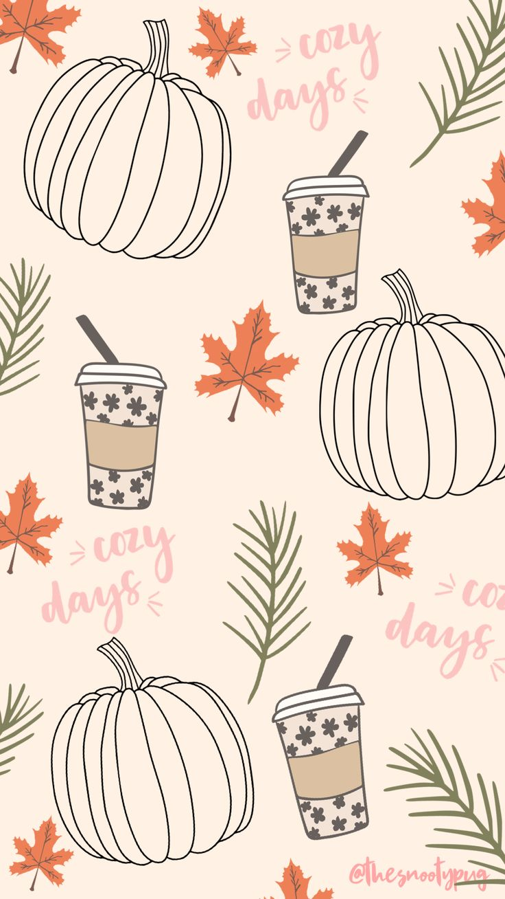 Fall trendy cute iPhone wallpaper background in 2020