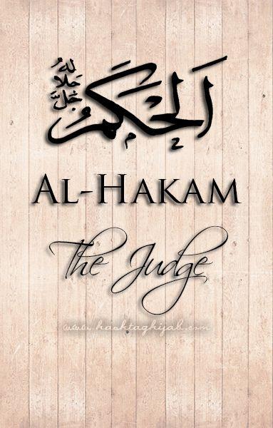Islamic Daily: Al-Hakam, the Judge | Hashtag Hijab © www.hashtaghijab.com