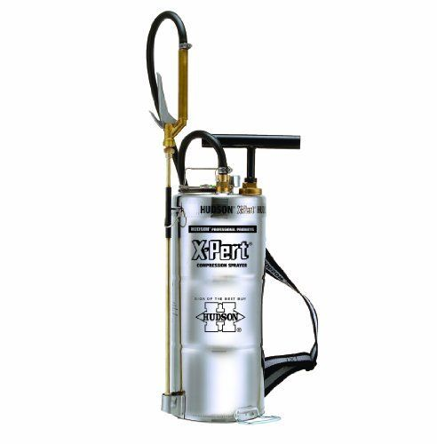 Hudson 93793 X-Pert 2.5 Gallon Sprayer Stainless Steel by Hudson. $330.68. Pressure gauge with large view dial. Thrustless control valve with 60 mesh 6-inch inline filter for easier more comfortable spraying.. TeeJet 8002HSS stainless nozzle.. Strong brass 20-inch spray Wand. Kem-Oil chemical resistant, braided power sprayer style hose. For home, lawn and garden rely on Hudson sprayers to protect against insects, weeds and plant diseases. We also make life easier ...