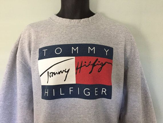FRESH 90's Tommy Hilfiger Sweatshirt Big by DynamiteDudsVintage