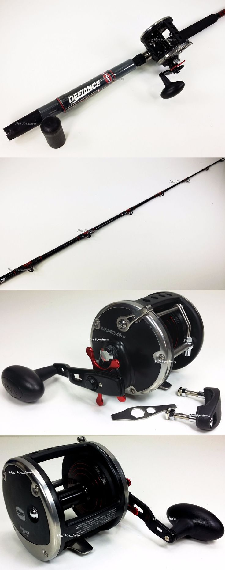 Saltwater Combos 179959: Penn Defiance 30-50 Boat Rod W/ 40Lw Conventional Levelwind Fishing Reel BUY IT NOW ONLY: $119.95