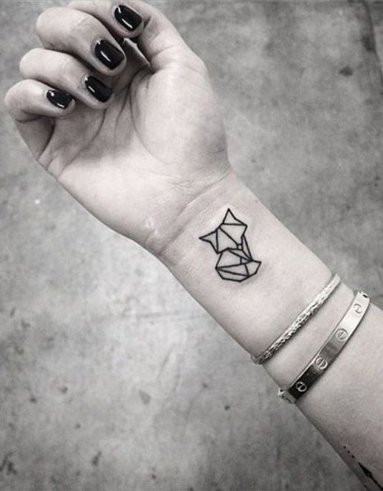geometric tattoo – tattoo le chat graphique … | best geometric