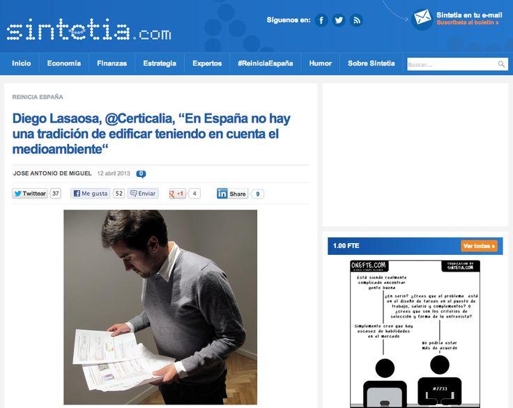 Diego Lasaosa de Certicalia en Sintetia.com http://www.certicalia.com/