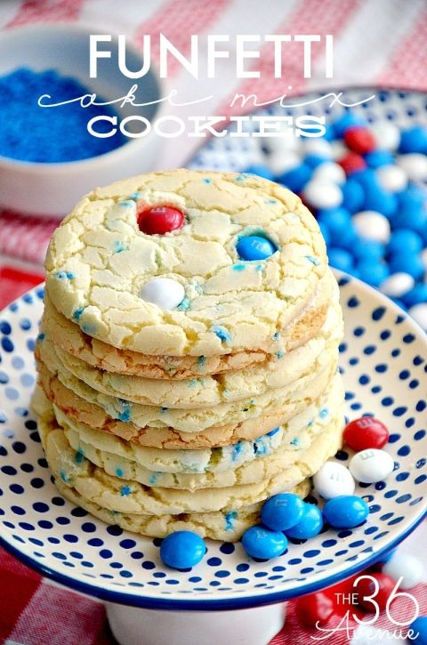 4th of july funfetti cake