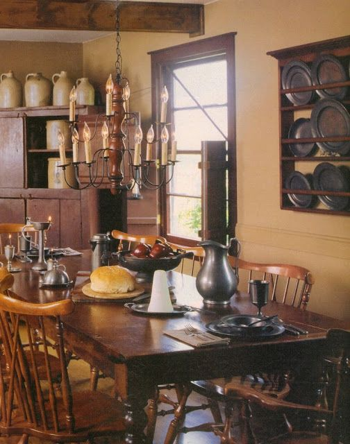 1000 Images About Early American Colonial Home Decorating Interiors On Pinterest Pewter