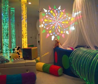 Great use of space with a multi-sensory space and ballpool area