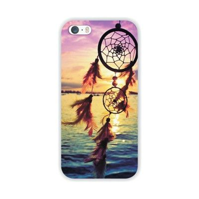 Transparent Edge Romantic Flowers Printed Hard PC Protect Back Skin Cover Cases For Apple iphone 5 5s SE fundas coque WHD1408