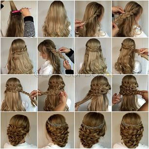 Laura Kaszoni wedding hair tutorial
