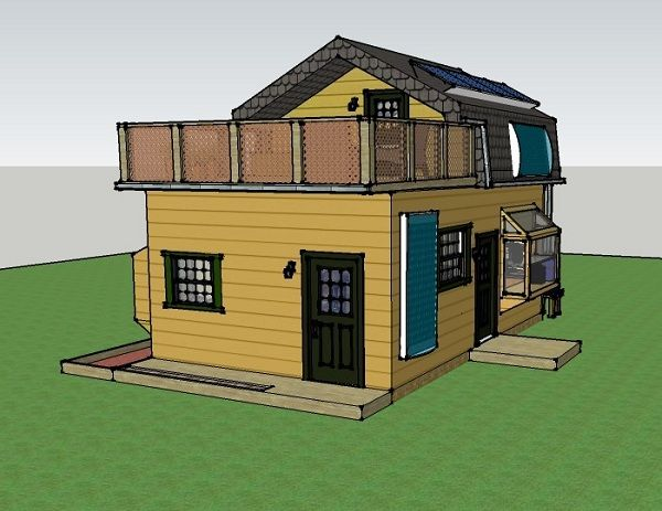 Misty robinson 39 s 16x25 off grid house simple solar Off grid house plans