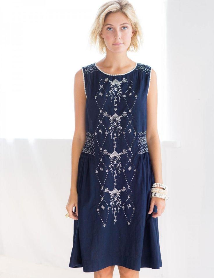 Sascha Dress in Ink/Ivory *organic