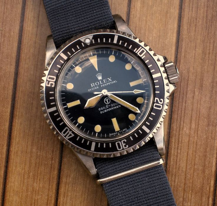 The Holy Grail of watches: rare Rolex Milsub, incredibly expensive if you find one. http://amzn.to/2sqEwBW
