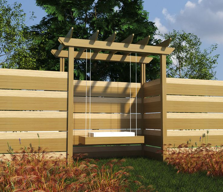Build your own pergola with swing diy plans fun to build for Build your own pergola
