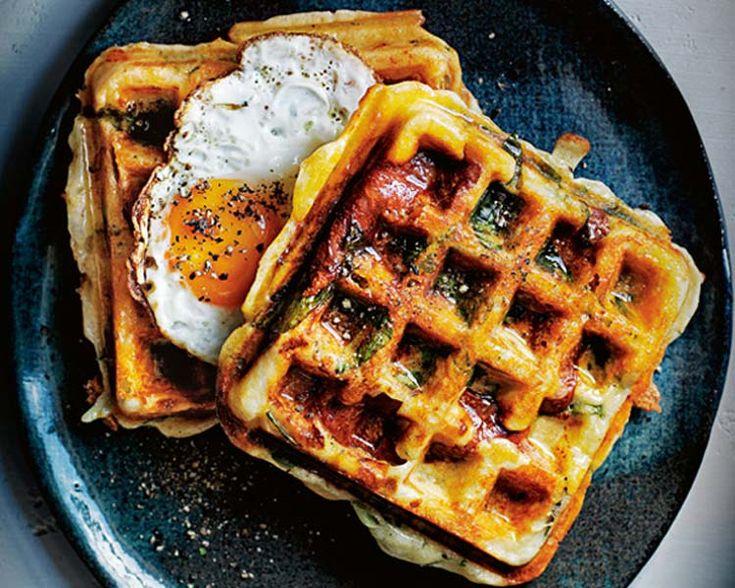 Donna Hay's Savoury Breakfast Waffles