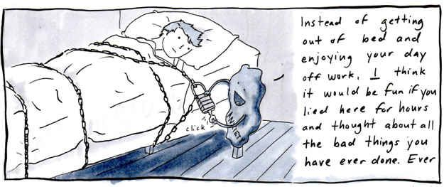 Oh, the exasperating prison that is your relationship to your bed.   21 Comics That Capture The Frustrations Of Depression