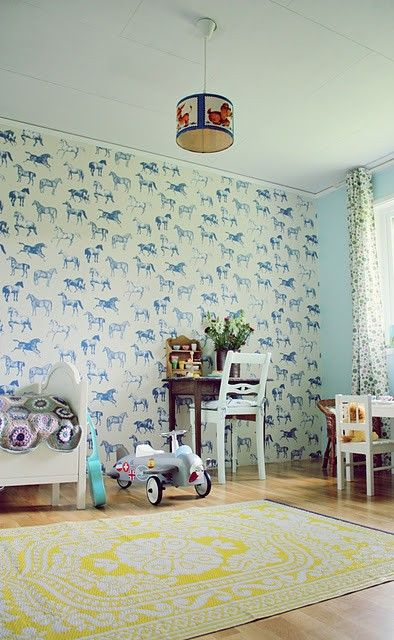 A Lovely Lark: 11 Amazing Wallpapered Nurseries