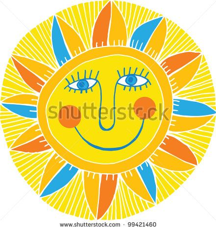 smiling sun   Cartoon Illustrations Smiling Sun Stock Photos, Images,