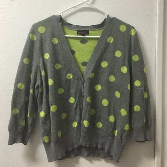 Pola dot cardigan.  A gently used cardigan, adorable! Sweaters Cardigans