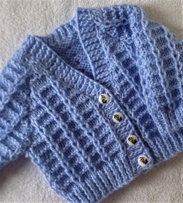 Little loops is a lovely soft bouncy pattern that is easy to do. I love designing easy textured patterns as they look so good. Knitted in one piece until the armholes, saving on seams, With 5 sizes to choice from it can be knitted in many colours. Sizes 14 16 18 20 22 in 36 41 46 51 56 cmThis is worked flat on 2 needles and is a written pattern. Look out for the matching Baby Beanie hat thatis also available to buy on Love knitting.