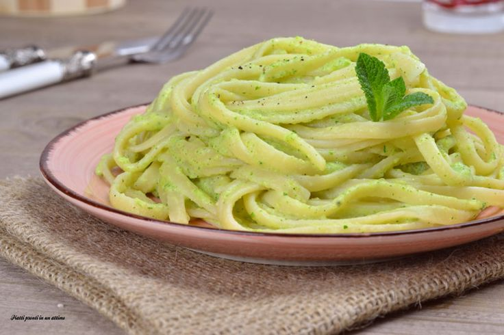 Linguine+alla+crema+di+zucchine